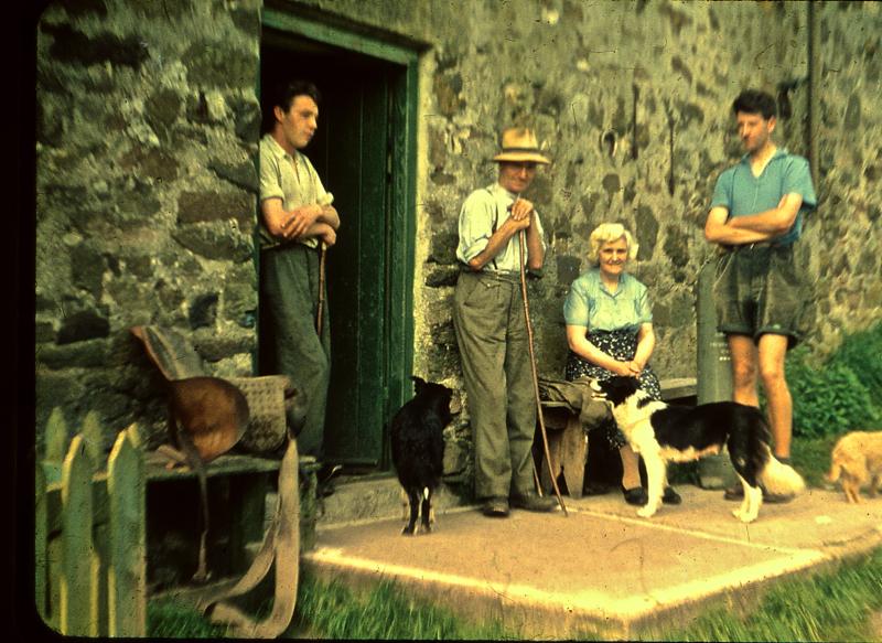 Johnny Nichol Dawson and Annie Telfer, John Tribe 1955 Usway